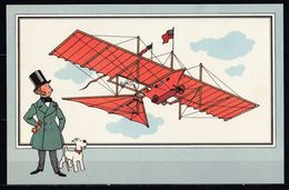 "TINTIN / Chromo ""Voir Et Savoir"" Par Hergé : Aviation Origine N° 2 - Edition CASTERMAN - Other"