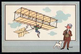 "TINTIN / Chromo ""Voir Et Savoir"" Par Hergé : Aviation Origine N° 4 - Edition CASTERMAN - Other"
