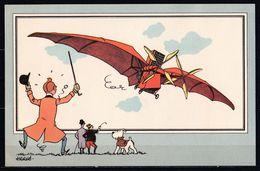 "TINTIN / Chromo ""Voir Et Savoir"" Par Hergé : Aviation Origine N° 5 - Edition CASTERMAN - Other"