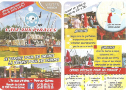 Fiche Touristique Visites Passion - L'île Aux Pirates - Perros Guirec: Le Paradis Pour Les Enfants... - 2019 - Advertising