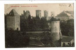 CPA- Carte Postale-Luxembourg- Anciennes Tours Sur Le Rham -1907 VM18651 - Luxemburg - Stad