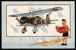 """Tintin : Chromo """" Voir Et Savoir """" Par Hergé : Aviation Guerre 1939-1945 : N° 3 Editions Du LOMBARD. - Autres"""