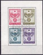 1965, Ungarn, 2137/40 Block 48 A, Used Oo, 20 Jahre Vereinte Nationen (UNO). - Blocks & Sheetlets