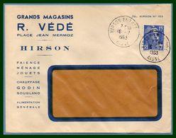 Hirson Entrepot (Aisne 02 ) Type A 7 1953 /N° Muller R. Védé Grands Magasins - Marcophilie (Lettres)