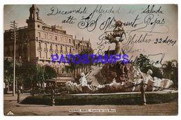 137041 ARGENTINA BUENOS AIRES FUENTE DE LOLA MORA & TRAMWAY POSTAL POSTCARD - Messico