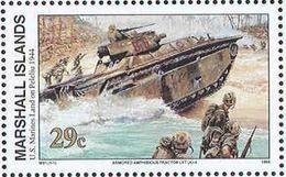 M2560 ✅ 2nd World War WWII WW2 Marine Corps Tanks Army Soldiers 1994 Marshalls 1v Set MNH ** - Militaria
