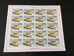 N°1245 à 1248 (dessin De A Buzin) En Feuilles De 20. Côté 550€ - Rwanda