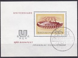 1965, Ungarn, 2162 Block 50 A, Used Oo, Universiade, Budapest. - Blocks & Sheetlets