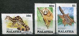 Malaysia Mi# 299-301 Gestempelt/CTO - Fauna - Malaysia (1964-...)
