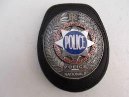 Plaque De Ceinture étoile De Sheriff, Sur Cuir, Neuve!!RARE - Police & Gendarmerie