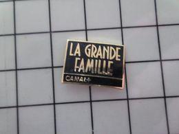 115b Pin's Pins / Beau Et Rare / THEME : MEDIAS / CHAINE DE TELE CANAL + EMISSION LA GRANDE FAMILLE - Mass Media