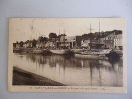 Saint Valery  Le Port Et Le Quai Perrée - Saint Valery Sur Somme