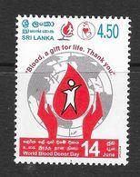 Sri Lanka 2004 World Blood Donor Day Rs4.50 MNH Stamp SG1707 - Sri Lanka (Ceylan) (1948-...)