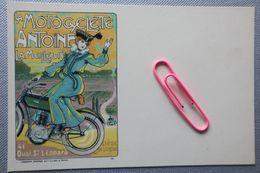 PUB Pour La Motocyclette ANTOINE, La Meilleur, 41 Quai ST LEONARD Liége BELGIQUE  Avant 1906 - Publicité