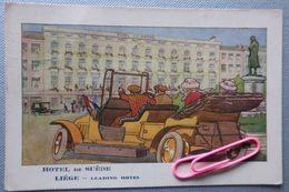 PUB Pour L'hôtel De Suède à Liège BELGIQUE En 1914 - Publicité