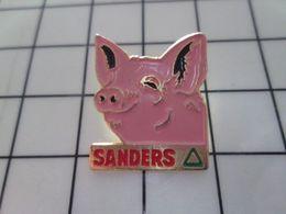 115d Pin's Pins / Beau Et Rare / THEME : ANIMAUX / GORET PORC COCHON ROSE SANDERS Pas Bernie !!! - Animaux