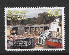 Sri Lanka 2005 Tsunami Rs5.00 Used Stamp SG1758 - Sri Lanka (Ceylan) (1948-...)