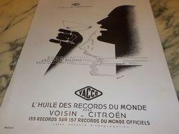 ANCIENNE PUBLICITE HUILE DE L ENDURANCE  YACCO  1933 - Transporto