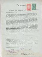 SLOVENIA, Yugoslavia Serbia Zemun Stamps Used Instead Taxe Revenues 1919 Document - Slovénie