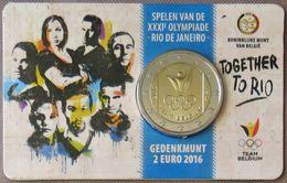 BE20016.2 - COINCARD Belgique - 2 Euros Commémo. - 2016 - Jeux Olympiques Dété à Rio - Belgium