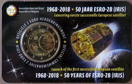 BE20018.4 - COINCARD Belgique - 2 Euros Commémo. - 2018 - 50e Anniv. Satellite ESRO 2B - IRIS - Belgium