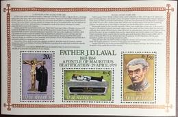 Mauritius 1979 Beautification Of Father Laval Minisheet MNH - Mauricio (1968-...)