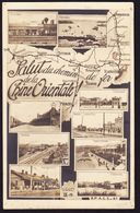 1913 AK Salut Du Chemin De Fer De La Chine Orientale! 9 Bahnhof Bilder. Bahnstempel Auf 7 K Marke. Harbin-Mankuria 262. - Russie