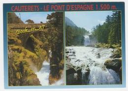 {59692} 65 Hautes Pyrénées Cauterets , Le Pont D' Espagne Et La Cascade , Multivues - Ponts