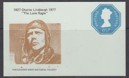 "Great Britain 1977 Charles Lindbergh ""The Lone Eagle"" Souvenir Sheet ** Mnh (48472) - 1952-.... (Elizabeth II)"