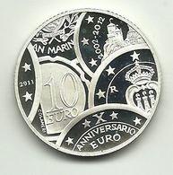 2011 - San Marino 10 Euro Decennale - Senza Confezione - San Marino