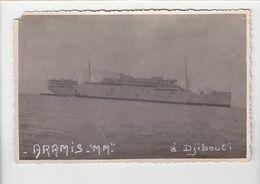 Bateau / Messageries Maritimes / L' Aramis à Djibouti / Photo 9 X 14 Cm / Voir état - Commerce