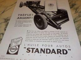 ANCIENNE PUBLICITE TREPHE D ARGENT  HUILE STANDARD  1933 - Transporto