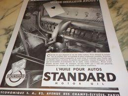 ANCIENNE PUBLICITE MEILLEUR ATOUT HUILE STANDARD  1933 - Transporto