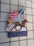115e Pin's Pins / Beau Et Rare / THEME : SPORTS / STATUE DE LA LIBERTE HIPPISME TROT ATTELE OURASI PRIX D'AMERIQUE 1988 - Pin's