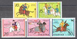 Korea - Koguryo People On Horses - Falconry - Bow Shooting - MNH - Stamps