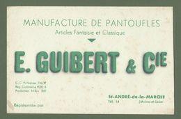 BUVARD MANUFACTURE DE PANTOUFLES E.GUIBERT ST ANDRE DE LA MARCHE 49 MAINE ET LOIRE - Shoes