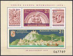 1975, Ungarn, 3065 Block 115 A , MNH **, Europäisches Denkmalschutzjahr - Hojas Bloque
