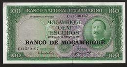 """100 Escudos  """"MOZAMBIQUE""""     27 Mars 1961  UNC    Ble 43 - Moçambique"""