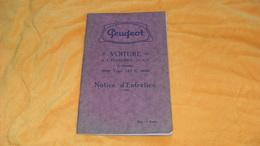 ANCIENNE NOTICE D'ENTRETIEN PEUGEOT VOITURE 6 CYLINDRES 12 CV 4 VITESSES../ TYPE 183 C.. - Auto