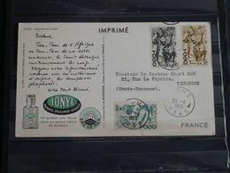 Togo - Sur Carte Publicitaire Ionyl - 1953 - Tam-Tam Du Diable - Briefe U. Dokumente
