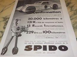 ANCIENNE PUBLICITE  CONFIRMATION  HUILE SPIDO 1933 - Transporto
