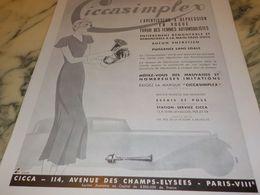 ANCIENNE PUBLICITE FAVORI DES FEMMES CICCA  1933 - Transporto