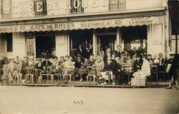 SEINE MARITIME  LE TREPORT  (carte Photo )  CAFE DE ROUEN Façade - Le Treport