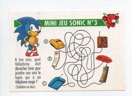- CHROMO LA VACHE QUI RIT - Série MINI JEU SONIC N° 3 : LE TELEPHONE - - Trade Cards