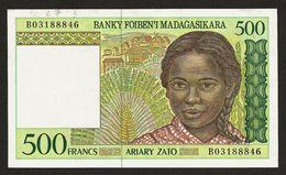 "500 Francs ""Madagascar""    UNC        Ble 37 - Madagascar"