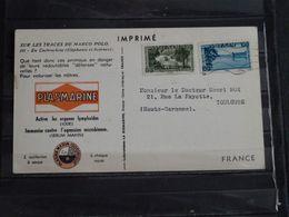 Viet-Nam - Carte Publicitaire Plasmarine Ionyl Sur Les Traces De Marco-Polo - 1954 - En Cochinchine - Viêt-Nam