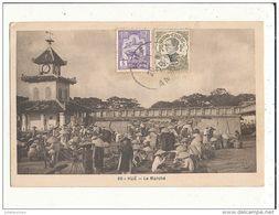 VIET NAM  HUE LE MARCHE CPA BON ETAT - Viêt-Nam