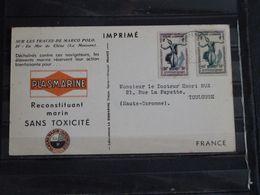 Cambodge - Carte Publicitaire Plasmarine Ionyl Sur Les Traces De Marco-Polo - 1954 - En Mer De Chine Mousson - Cambodge