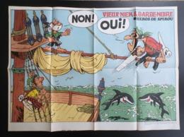 "POSTER "" Vieux Nick "" Supplement Au Spirou N° 1840  De  1973 - Spirou Magazine"