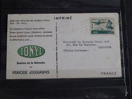 Iran - Carte Publicitaire Plasmarine Ionyl Sur Les Traces De Marco-Polo - 1954 - En Perse - Iran